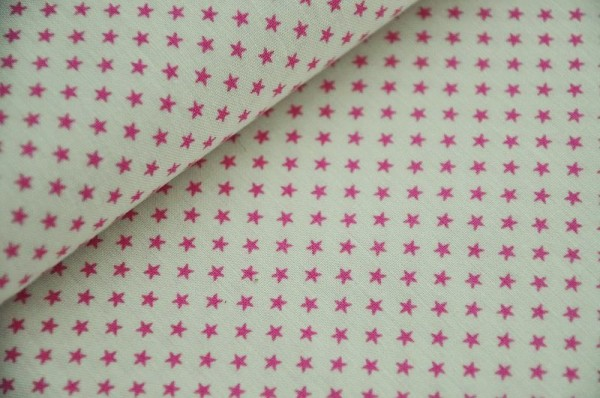 Webware - Tilda - Tiny Star, pink - 100% Baumwolle