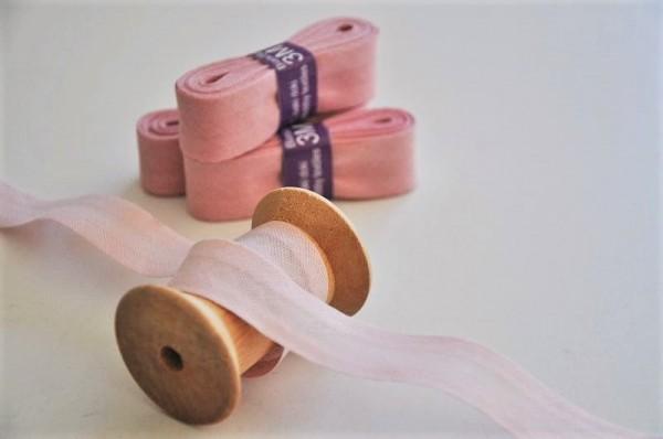 Baumwoll Schrägband 3 Meter - uni, hellrosa, 20mm breit - 100% Baumwolle
