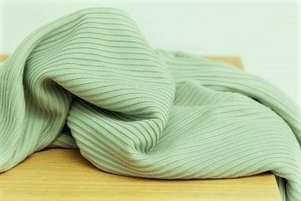 Ottoman Knit - uni, soft mint - 84% Viscose, 14% Nylon, 2% Elasthan, Strickstoff, Streifen, Herbststoffe, meetMilk, nachhaltige Stoffe