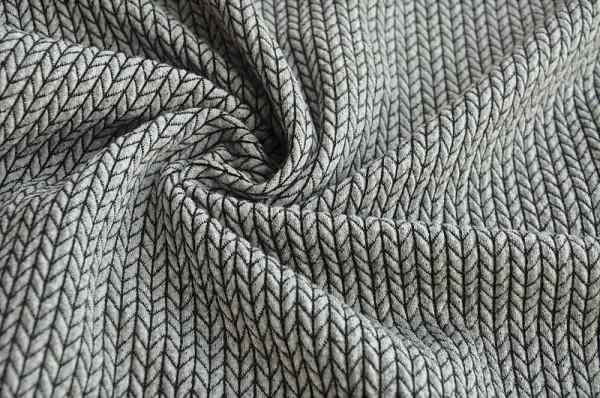 Hamburger Liebe Jacquard - BIG Knit Knit, hellgrau/schwarz