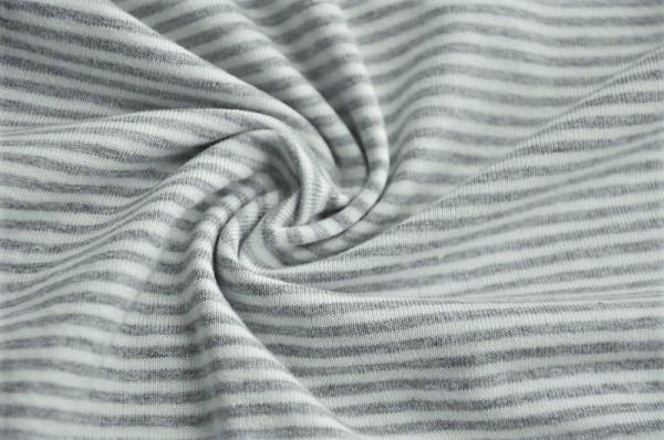 Hilco Jersey - Baby Stripe, grau-meliert/weiß