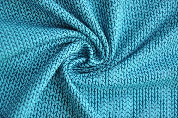 Hamburger Liebe Elastic-Minijacquard-Jersey - Knit Knit, türkis