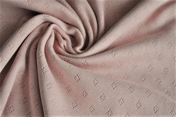 Hilco Baumwoll-Freinripp Prosper - zartes Lochmuster, rosa