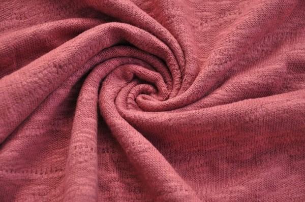 Organic Slub Jacquard Knit - rosewood - 100% Baumwolle (kba)