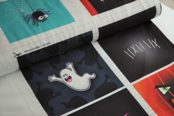Albstoffe - Shield Panel Halloween, 50cm - 95% Trevira-Bioactive, 5% Elasthan, Masken für Kinder nähen