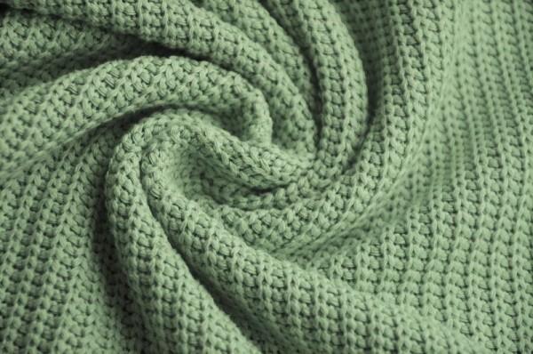 Strickstoff - pastelgrün