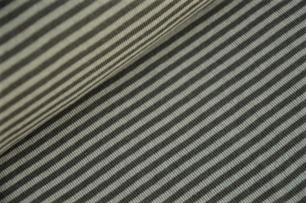 Bündchen - Ringel hellgrau/grau - 96% Baumwolle, 4% Elasthan