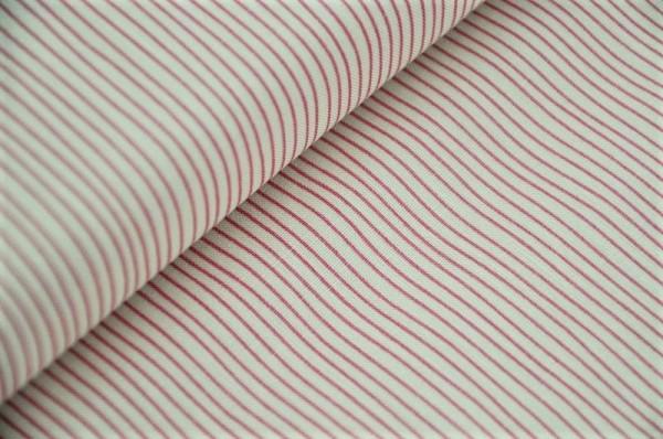 Webware - Tilda - Pen Stripe, pink - 100% Baumwolle
