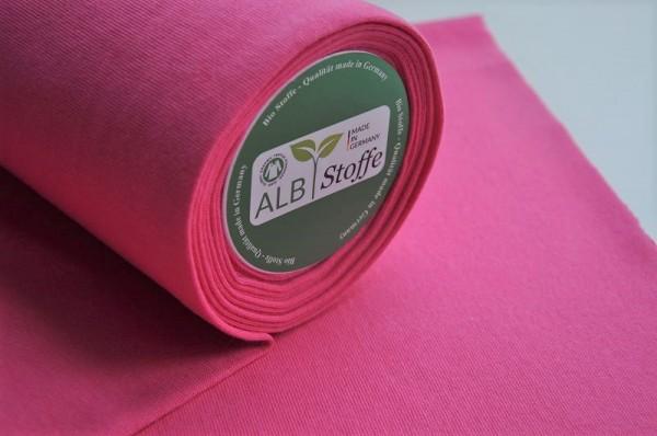 Bio-Bündchen glatt - ortensia/pink