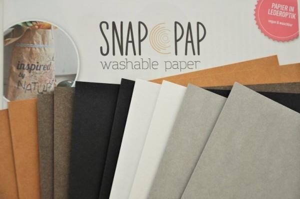 SnapPap - Kreativpapier in Lederoptik, 10 A4 Bögen, versch. Farben