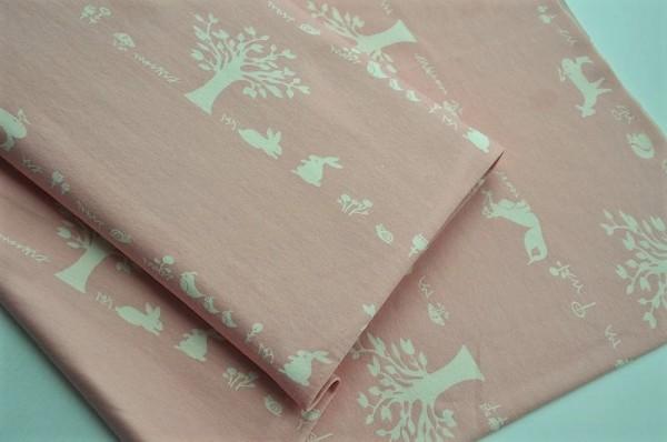 Birch Fabrics Bio Jersey - Storyboek, Forest Friends - 95% Baumwolle (kba), 5% Elasthan