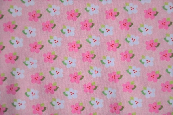 Hilco Jersey - Flowers, rosa