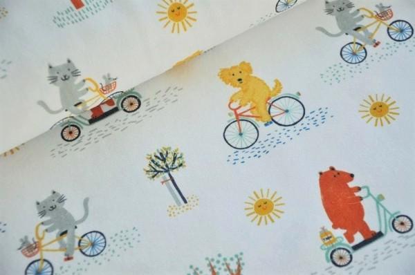Lillestoff Bio Jersey - Bike Ride - Kinderstoff, nachhaltige Stoffe