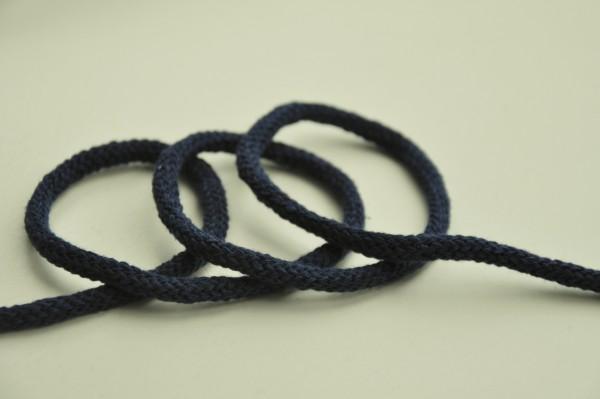 Baumwollkordel - dunkelblau, 6mm