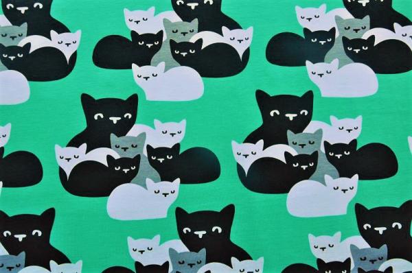 Paapii Bio-Jersey - Kittens, türkis