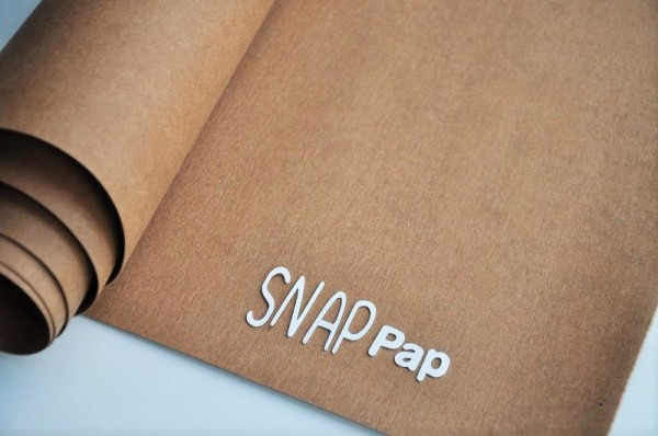 SnapPap - veganes Leder - hellbraun