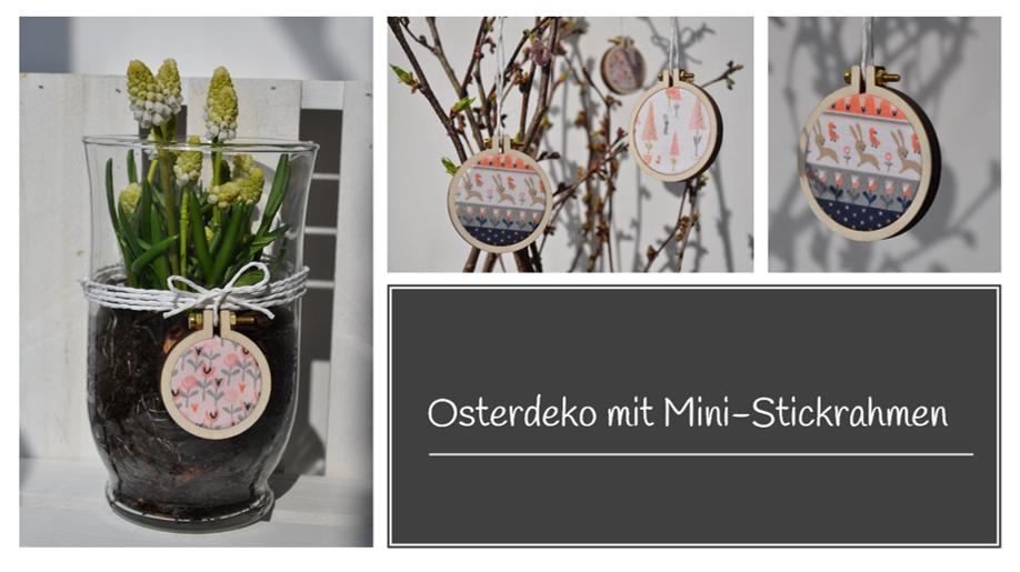 Osterdeko-Mini-Stickrahmen