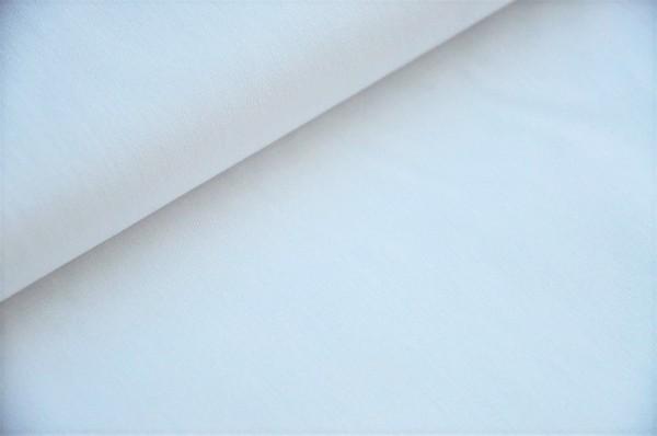 Hilco - Popeline, uni weiß, Webware, 100% Baumwolle