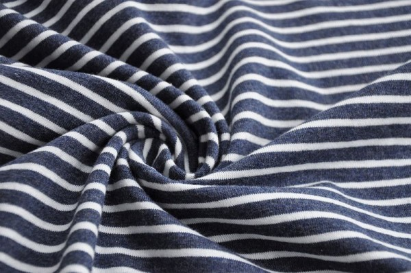 Hilco Jersey - dunkelblau-meliert/weiß