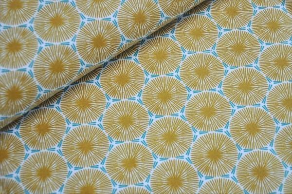 Beschichtete Baumwolle - Axel, senfgelb