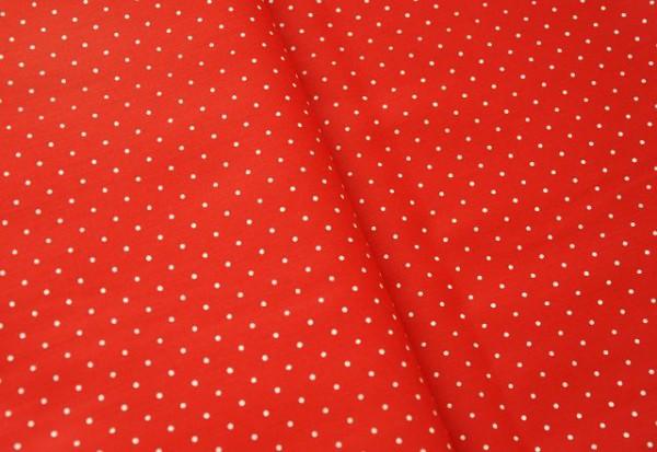Hilco Hilde Punkte rot, 100% Baumwolle