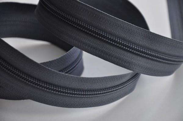 YKK Reißverschluss Meterware - dunkelgrau