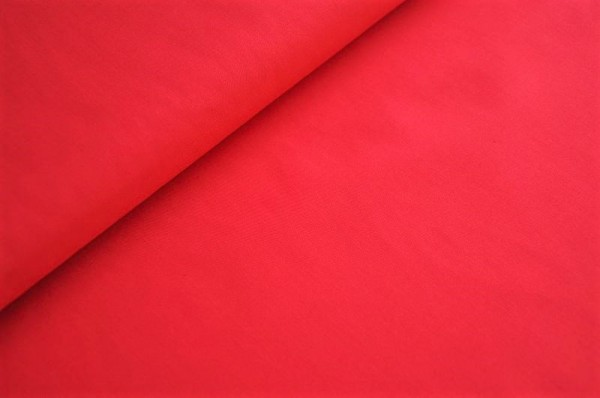 Bio Popeline - uni, tango red - 100% Baumwolle (kba), rot