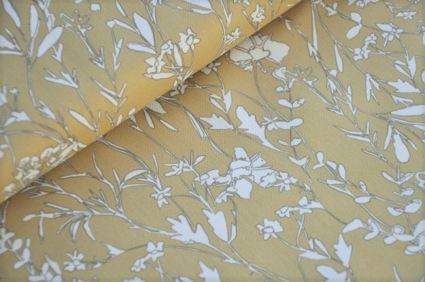 Bio Webware - A House in Bloom, beige - Cloud9 Fabrics