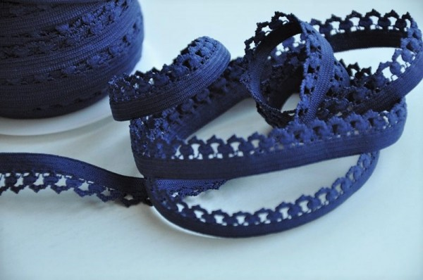 elastische Abschlussborte - dunkelblau