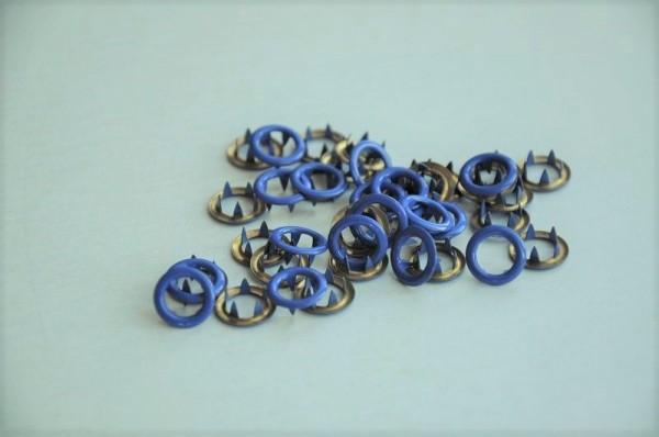 Jersey Druckknöpfe, blau