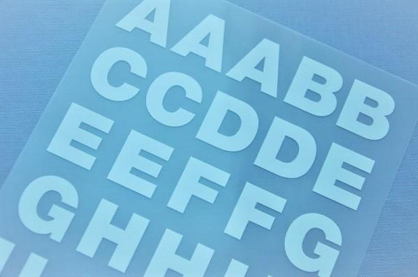 Bügelmotiv - Set mit Buchstaben weiß