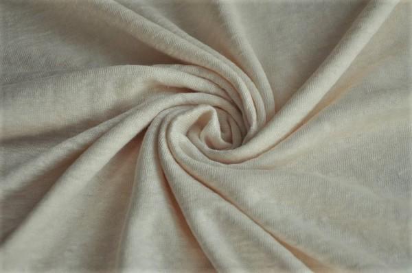 Jersey - Fine Linen Knit, creamy white - 100% Leinen, Damentstoffe, Sommerstoff, Bekleidungsstoffe
