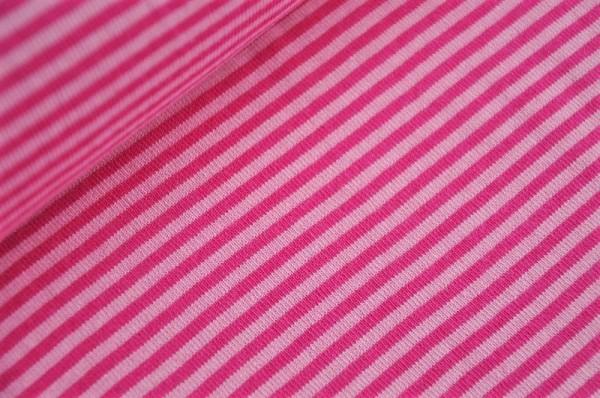 Bündchen - Ringel rosa/erika - 96% Baumwolle, 4% Elasthan