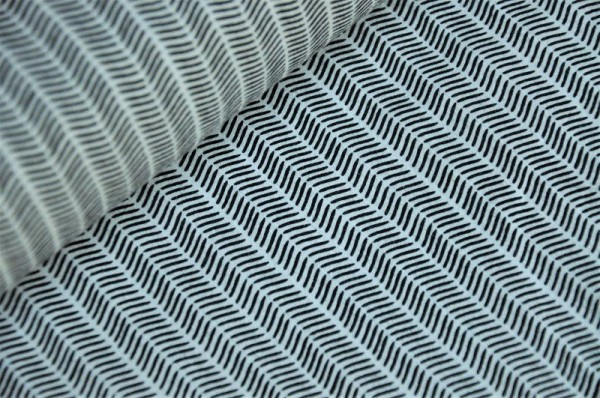 Jersey - Pine Lullaby, Markings, schwarz/weiß - Art Gallery Fabrics