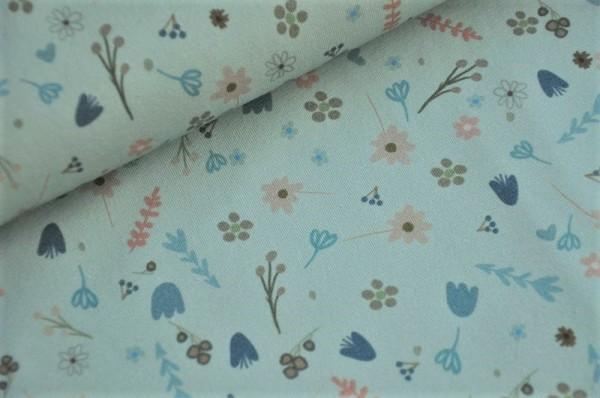 Lillestoff Bio Jersey - Alma, Blumen - Frühlingsstoff
