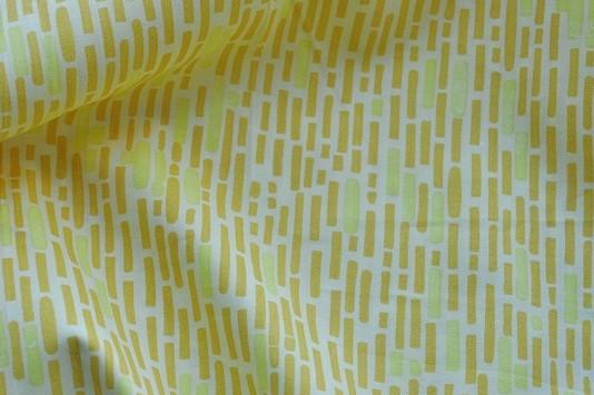 Bio-Popeline - Texture, gelb, 100% Baumwolle