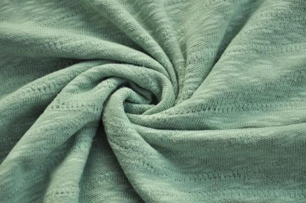 Organic Slub Jacquard Knit - sage green- 100% Baumwolle (kba), Frühlingsstoff, Bio Stoffe