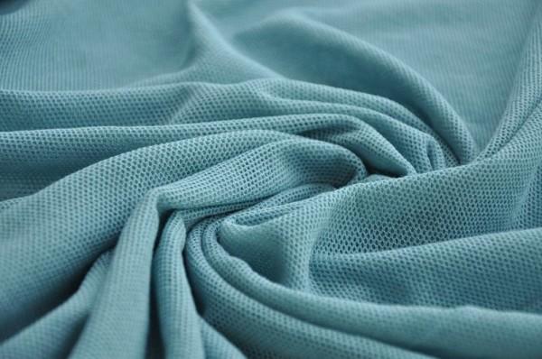 Bio Soft Tüll - uni, stone blue