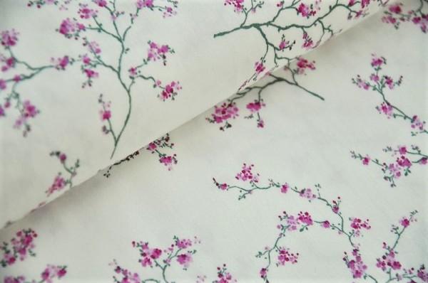 Hilco Stretch Popeline - Asia Fleur