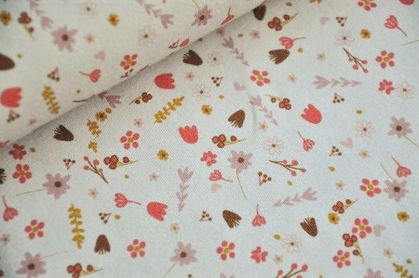 Lillestoff Bio Jersey - Alma, blumen, rosa, Kinderstoff, Frühlingsstoffe