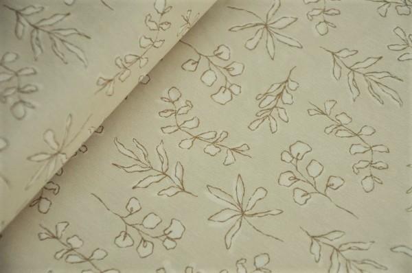 Webware - Soften The Volume, Sunbleached Leaves - 100% Baumwolle