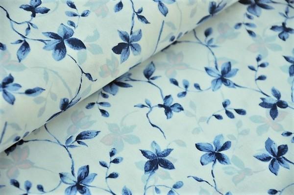 Hilco Stretch Popeline, Aconia, blau