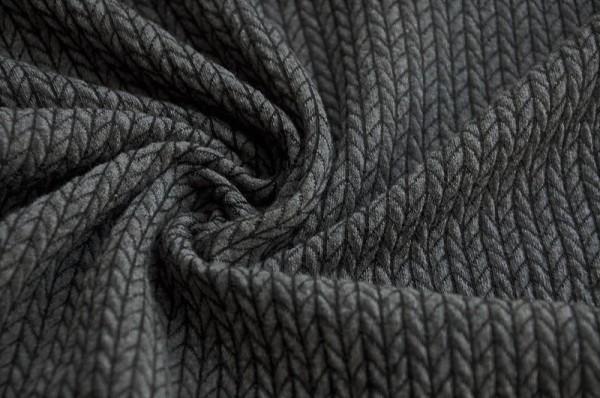 Hamburger Liebe Jacquard - BIG Knit Knit, antrhazit