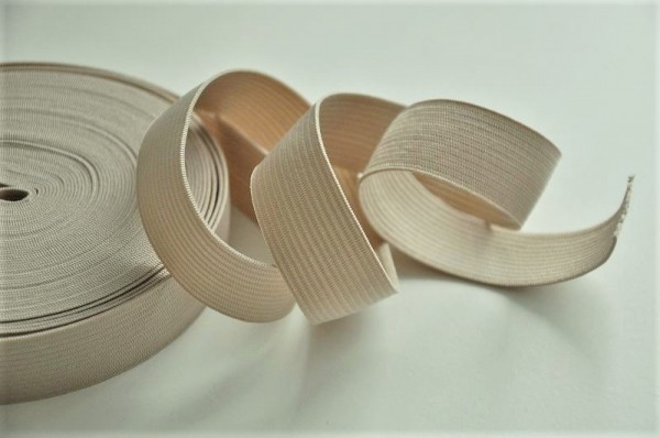 Elastic Band - 20mm, beige, Nähzubehör, Kurzwaren, elastsches Band zum Nähen
