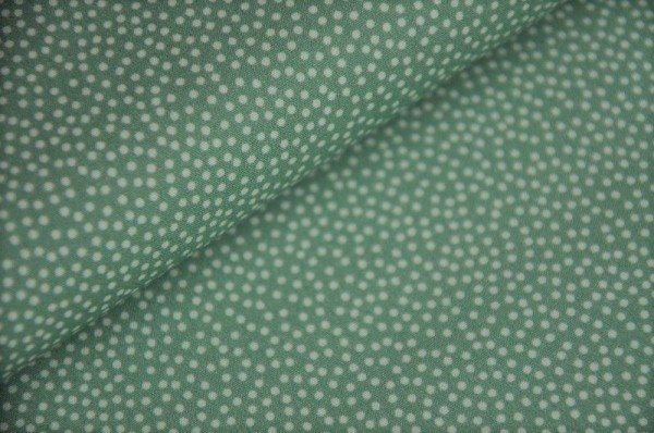 Webware - Popeline - Emilie grün, Mini Dots - 100% Baumwolle