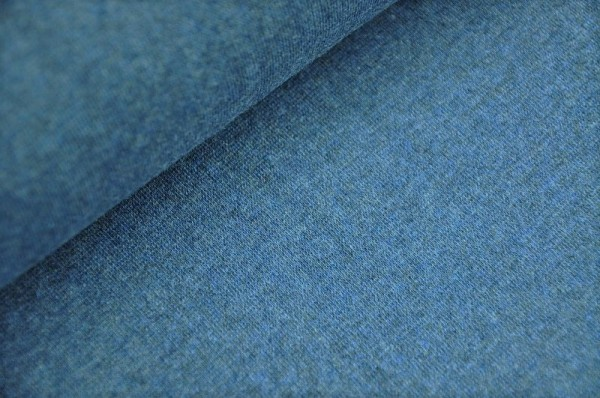 Bündchen - uni, blau-melange, Schlauchware, Swafing