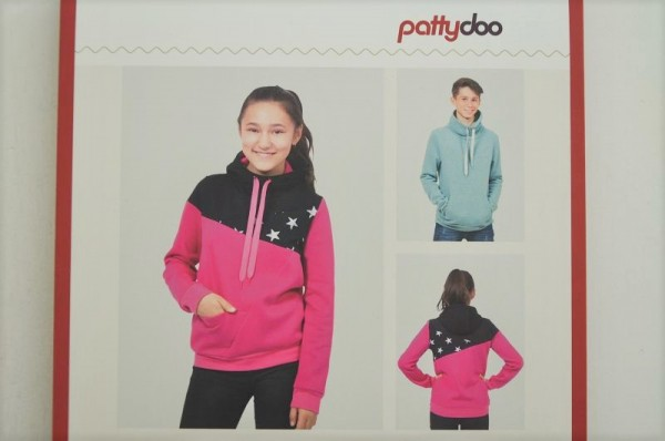 pattydo Schnittmuster - MIKA, Teenie Freestyle Hoodie - Gr. 140-176