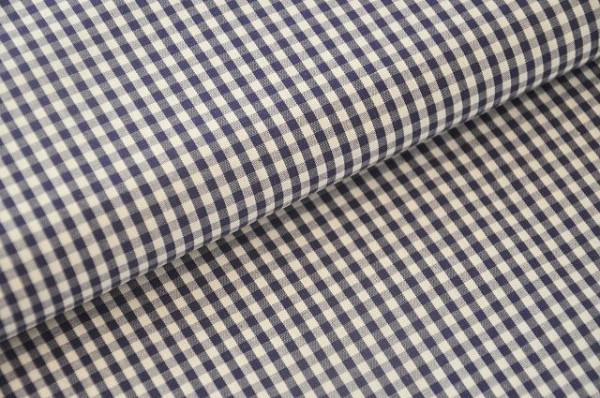 Hilco Vichy-Karo dunkelblau, 100% Baumwolle