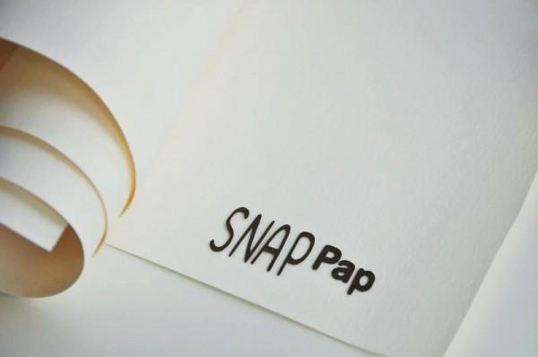 SnapPap - veganes Leder - weiß