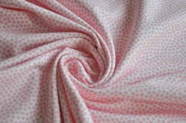 Hilco Jersey - Market Dots, light pink - 95% Baumwolle, 5% Elasthan, Punkte, rosa, Meterware